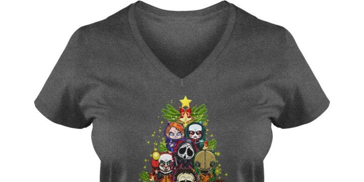 Horror Character Christmas Tree shirt