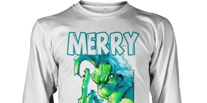 Grinch Merry kissmyass kiss my ass shirt