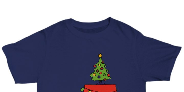 Christmas snoopy lights t-shirt