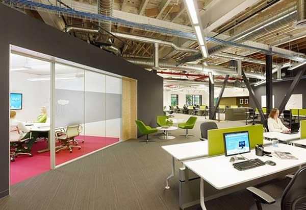 Thiết kế văn phòng theo cách hiện đại đơn giản