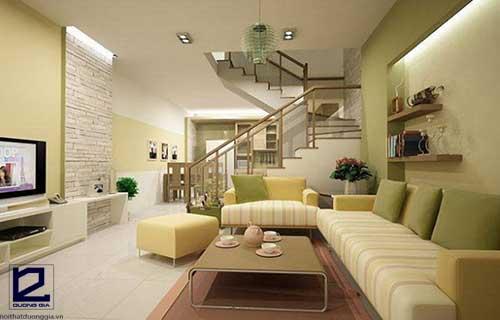 Lưu ý khi trang trí phòng khách có cầu thang