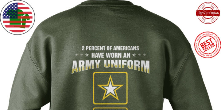 2 Percent of Americans have worn an air force uniform keeping our country free sweater