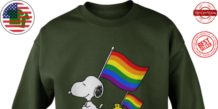 LGBT Snoopy And Woodstock love wins shirt
