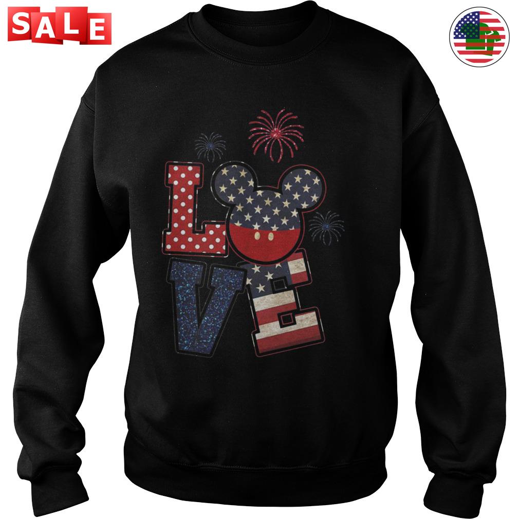 Love Mickey American flag 4th of July shirt